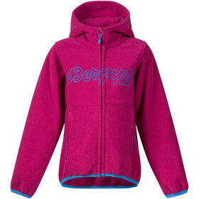 Bergans Bryggen Jacket Barn cerise/light winter sky